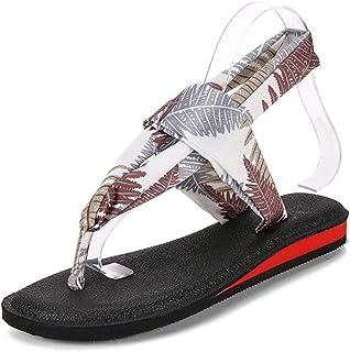 Women Flat Beach Sandals Summer Shoes Flip Flop Casual Ribbon Ankle Strap Bohemia Roman Sandals
