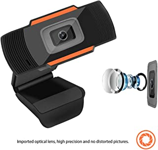 HD Webcam 1080P Streaming Web Camera with Microphones, Autofocus Webcam for Gaming Conferencing, Laptop or Desktop Webcam, USB Computer Camera for Mac Xbox YouTube Skype, Free-Driver Installation