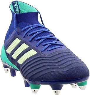 adidas Mens Predator 18.1 Soft Ground Soccer Casual Cleats, Navy, 10