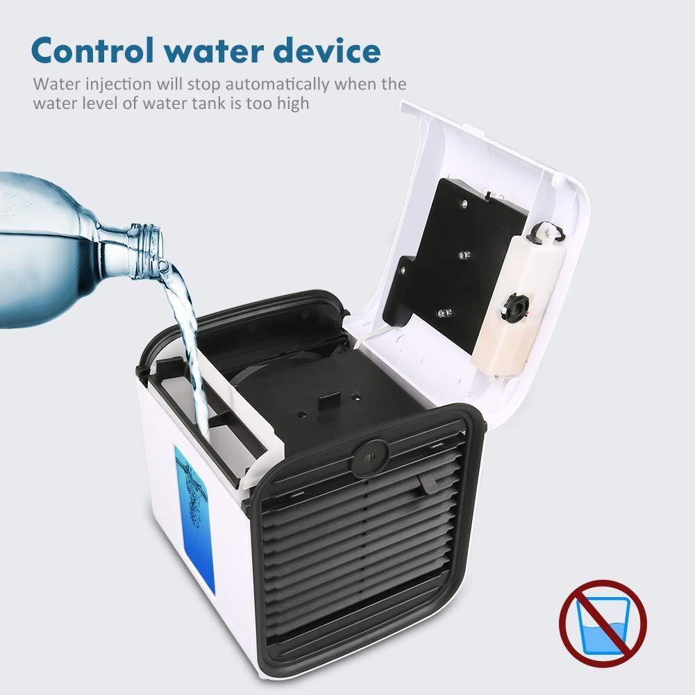 VICTOREM Aire Acondicionado Móvil - [2019 Nuevo] Mini Climatizador Portátil Humidificador Purificador de Aire Ventilador Personal con 1 Minuto Difusor de Aceite Esencial para Casa/Oficina/Viajar: Amazon.es: Hogar
