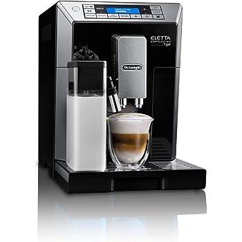 【ハイエンドモデル】デロンギ(DeLonghi) コンパクト全自動コーヒーメーカー エレッタ カプチーノ ミルク泡立て自動 ブラック ECAM45760B