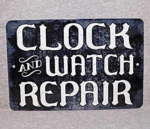 Reloj Y Reloj De Reparación De La Tienda De Hierro Placa De Metal Placa De Estaño Vintage Retro Bar De Pared Chic Decoración De 30 x 20 cm