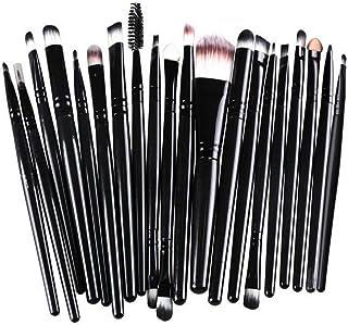 Makeup Brushes ZHIYE Make up Brush Set 21 PCs Professional Face Eyeliner for Foundation Blush Concealer Eyeshadow with Travel Black