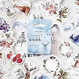 Ruluti 46 Pc/Winter-Wald Kleine Tiere Paste Mini Papier Sticker Paket Tagebuch Dekoration Stickeralbum Scrapbooking -