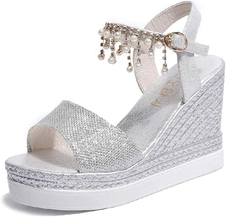 GIY Women's Wedges Sandals High Platform Comfortable Open Toe Ankle Strap Buckle Heeled Sandals Dress shoes