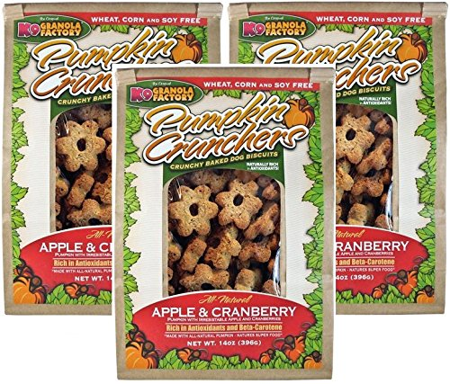 K9 Granola Factory Apple and Cranberry Pumpkin Crunchers (Pack of 3)