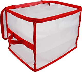 SLDHFE Boîte de rangement pour décorations de Noël, 3 niveaux, cube de rangement en plastique transparent avec séparateurs...