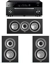 ELAC Uni-Fi 3.0 System with 2 ELAC UB5 Bookshelf Speakers, 1 ELAC UC5 Center Speaker, 1 Yamaha RX-A1070 A/V Receiver