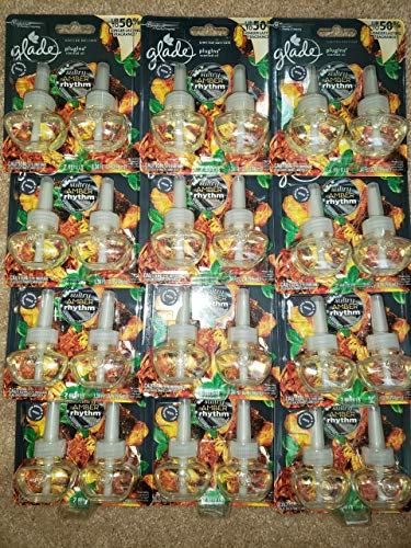 24 GLADE PLUGINS REFILLS SULTRY AMBER RHYTHM LIMITED EDITION FRAGRANCE 12 Packs -  318813