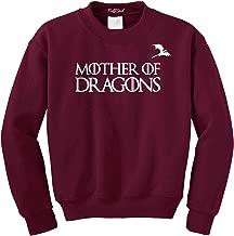 NuffSaid Mother of Dragons GoT Thrones Crewneck Sweatshirt with Dragon Logo - Unisex Crew
