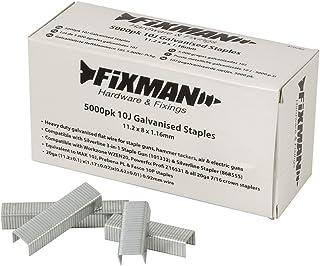 Fixman 470282 10J- Grapas galvanizadas (11,2 x 8 x 1,16 mm, 5000 unidades)