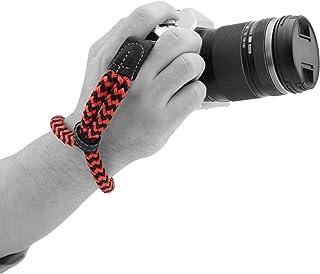 MegaGear SLR, bawełniany pasek na nadgarstek do aparatu DSLR (mały) - czarny/czerwony, mały - 23 cm / 9 cali (MG)
