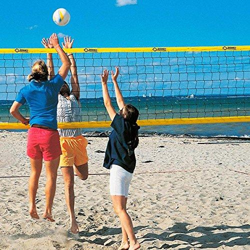 Donet Beach-Volleyball-Netz, Training & Freizeit 9,5 x 1,0 m, PVC-Einfassung Gelb 75 mm