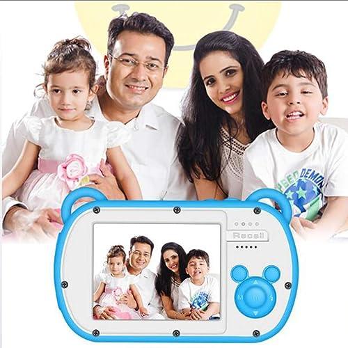 HWUKONG Kinderkamera, wasserdichtes HD-Anti-Drop-Kind Ultraleichte Digitalkamera2,7 Zoll Weiße Silikon-Schutzhülle für Jungen mädchen Geschenke, Geburtstagsgeschenk