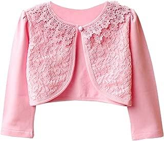GSVIBK Girls Cotton Cardigan Long Sleeve Kids Button Sweaters Crew Neck Cardigans Sweater