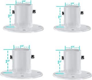 Aluminum Slide Deck Flange w/Flange Bolt for Inground Swimming Pools 4 Pack