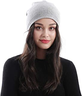 Dreamdeer Warm Wool Cable Knit Beanie Winter Hats for Women Trendy Warm Chunky Soft Stretch Stretchy Winter Cap