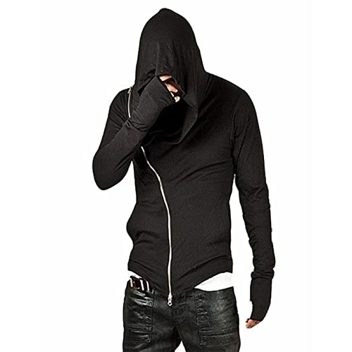 754afa5226b7 CIC Collection Men s Oblique Zipper Pocket Hooded Sweatshirt