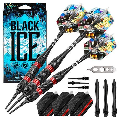 Viper schwarz Ice Soft Spitze Darts, Unisex, Red Rings