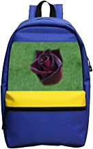 Mini School Daypack For Kindergarten Unisex Children,Print Black Baccara Rose Blue