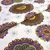 Hans-Textil-Shop 1 Meter Stoff Meterware Mandala Muster