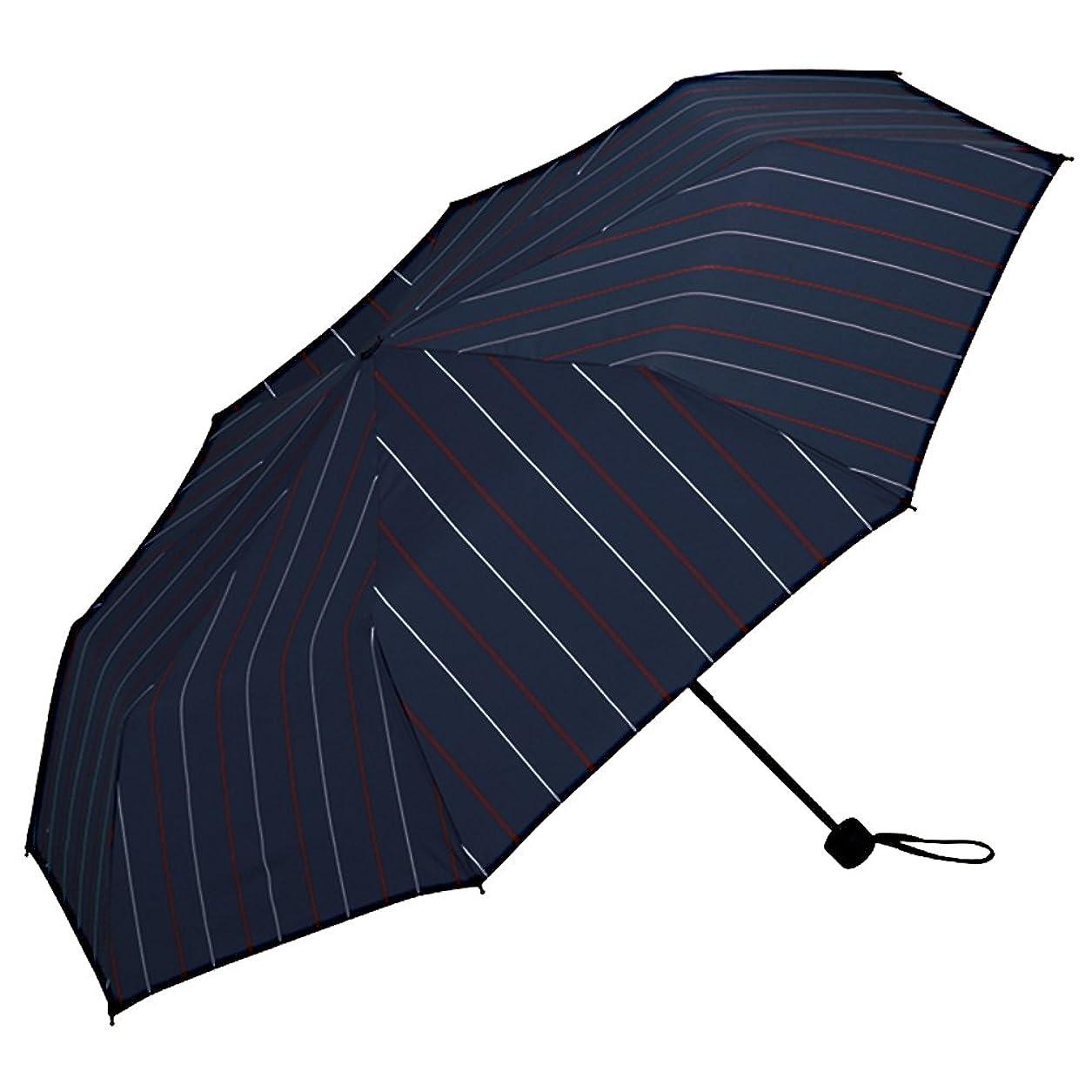 サスペンド暗くする謝罪するワールドパーティー(Wpc.) 雨傘 折りたたみ傘  ネイビー  65cm  レディース メンズ ユニセックス 耐風 MSZ-041