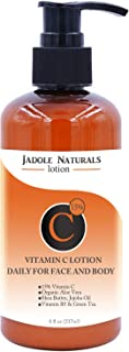 Jadole Naturals Vitamin C Lotion Moisturizer Cream for Face and Body & Décolleté for Anti-Aging, Wrinkles, Age Spots, Skin...