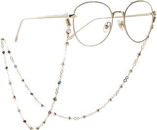 Gooder Eyeglasses Chain Gold Luck Reading Glass Holder Chains and Cords for Women Sunglasses Holder Strap Lanyards