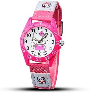AAIND 2018 Hello Kitty Cartoon Watches Kid Girls Leather Straps Wristwatch Children Hellokitty Quartz Watch Cute