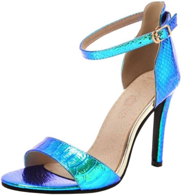 Melady Women Fashion Summer shoes Stiletto Heels Ankle Strap