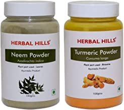 Herbal Hills Neem and Turmeric Powder 100 GMS Each Natural Blood Purifier