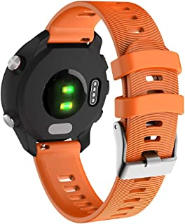 Dolloress Forerunner 245/245M Watch Band Replacement Silicone Watch Strap Compatible for Garmin Forerunner 245/245M Running Watch Wristband Colorful Strap