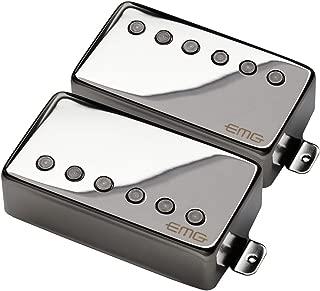 EMG 57/66 Bridge and Neck Humbucker Guitar Pickups Set, Chrome