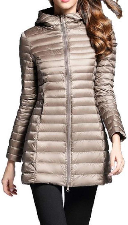 TaoNice Women's Lightly Warm Packable Down Parka Overcoat Outerwear Coat