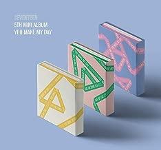 SEVENTEEN - YOU MAKE MY DAY [Random ver.] (5th Mini Album) CD+Photobook+Lyrics Paper+Photocards+Folded Poster+Postcard+Sticker+Extra Photo card