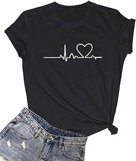 LOOKFACE Women's Cute T Shirt Junior Tops Teen Girls Graphic Tees