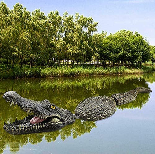 Floating Crocodile Decoy Resin Novelty Animals Statues Pond Goose Duck...
