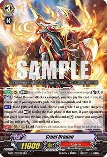 Cardfight   Vanguard TCG - Cruel Dragon (EB09 002EN) - Extra Booster Pack 9  Divine Dragon Progression by Cardfight   Vanguard TCG