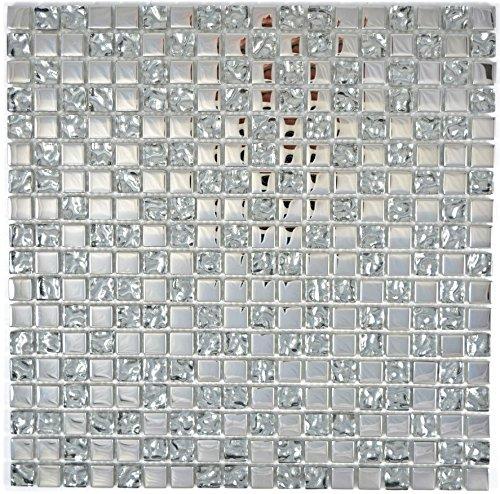 Piastrelle a mosaico in vetro trasparente, verde chiaro, per parete del bagno, doccia, cucina, piastrelle tartaruga
