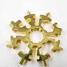 Snowflake Multitool 16-w-1 Snow Multi-Tool śrubokręt narzędzia rowerowe brelok do torby Tag M4 M5 M6 klucz sześciokątny kl...