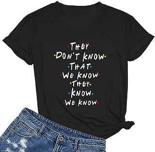Women V Neck Graphic Funny Cute T Shirt Teen Girl Tops Tee