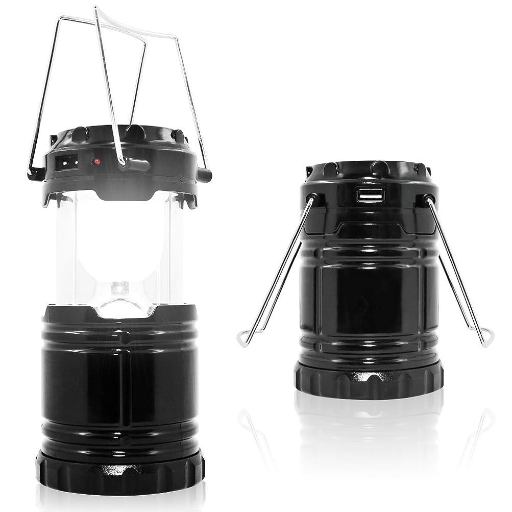 サスティーン酔って光沢のあるMAXIN キャンプライト 折りたたみ 超明るい 充電式バッテリー 防水 ポータブル LEDソーラーランプ 懐中電灯 キャンプ用