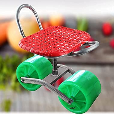 JJSFJH Outdoor cart seat, Exercise Durable Garden cart seat, Heavy Duty Garden Bench for Outdoor Utility Lawn Yard Patio Flow
