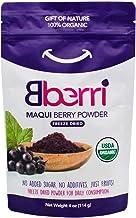 Bberri Maqui Berry Powder, 100% Organic, Pack of 4 oz