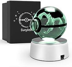Gifts for Kerstmis, Sunell uniek verjaardagscadeau voor kinderen, 3D Crystal Ball met Discoloration Lamp Base, Children's ...