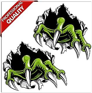 SkinoEu® 2 x PVC Laminado Pegatina Adhesivos Garras Monstruo Rasguño Monster Claws para Autos Coches Motos Ciclomotores Bicicletas Ordenador Portátil Regalo B 135