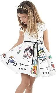 Goodlock Toddler Kids Fashion Dress Girls Clothes Cute White Cartoon Dress for The Girl Princess Dress