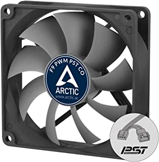 ARCTIC F9 PWM PST CO - 92 mm Case Fan with PWM Sharing Technology (PST), Dual Ball Bearing for Continuous Operation, Very ...