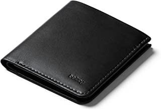 Tall Wallet, slim leather wallet (Max. 12 cards and flat bills) Black