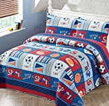 Luxury Home Collection 3 Piece Full/Queen Size Quilt...